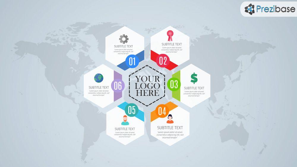 Free Hexagon Style Layout World Infographic Prezi Template Prezi