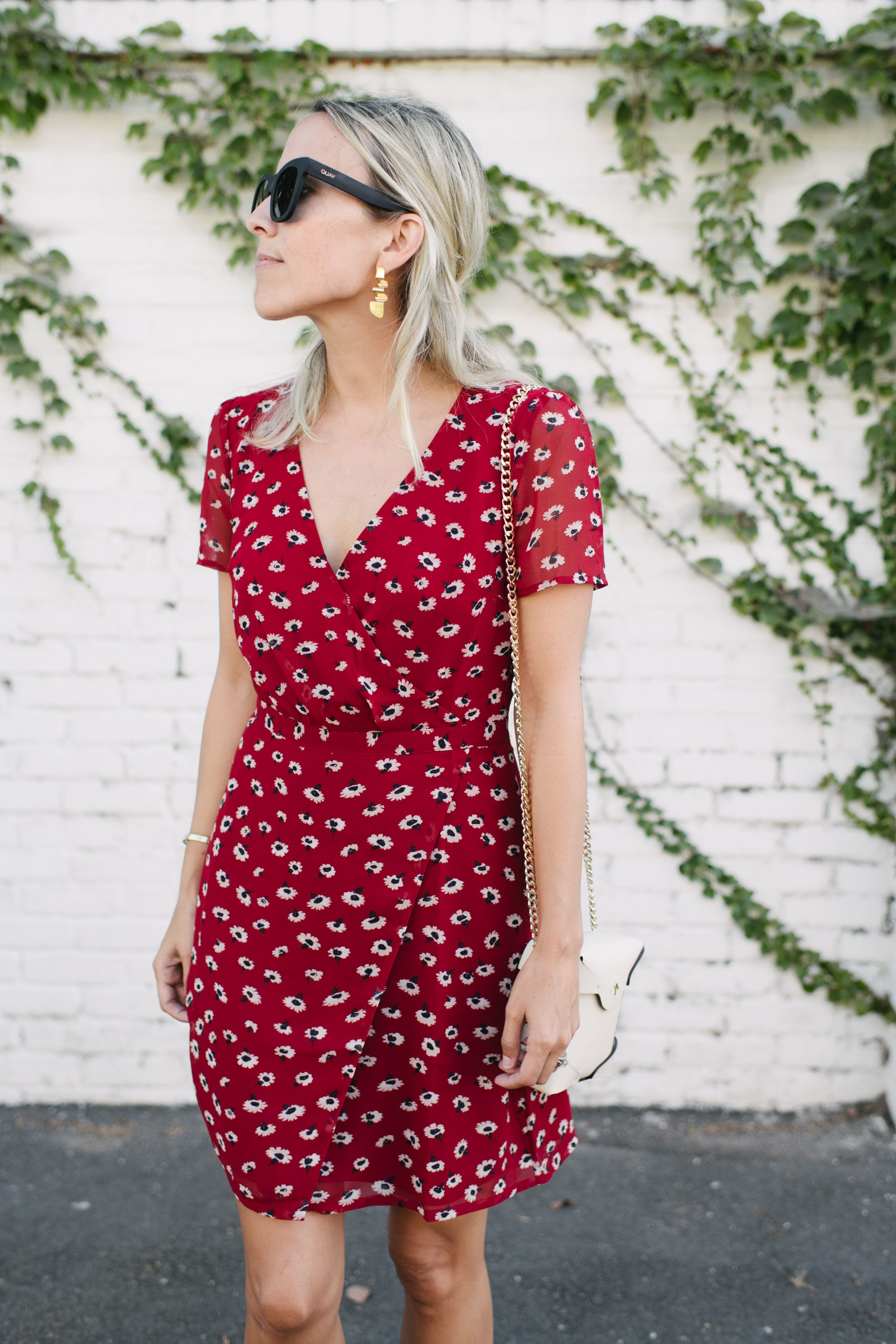 Red Floral Dress In August Damsel In Dior Floral Dress Casual Floral Outfit Summer Floral Dress Outfit Summer