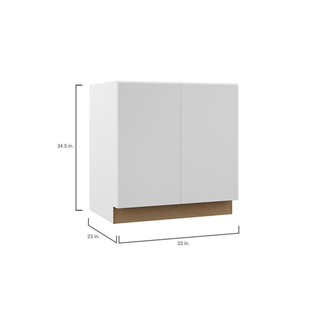 Hampton Bay Designer Series Edgeley Assembled 33x34 5x23 75 In Full Height Door Base Kitchen Cabinet In White Bf33 Edwh In 2020 Kitchen Cabinets Cabinet Base Cabinets