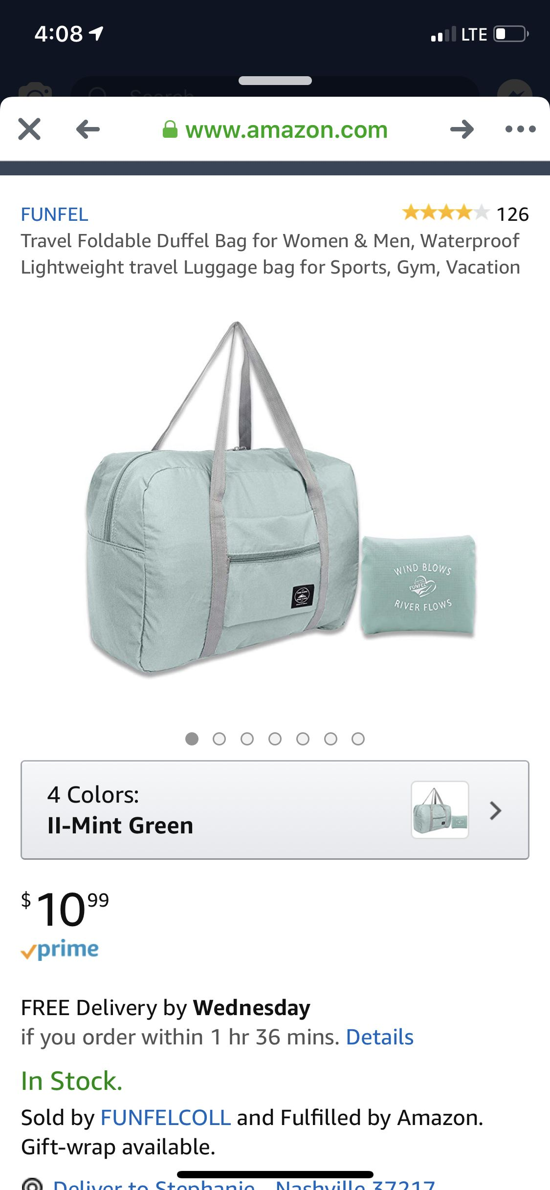 b5e50518d786 Collapsible duffle in mint