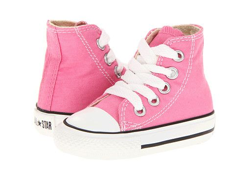Kids chuck taylor all star core hi infant toddler, Converse, Pink