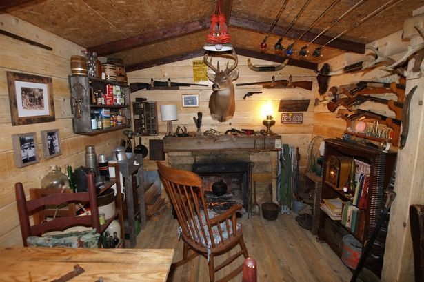 Making an old mobile into a hunting cabin google search for Log cabin basement ideas
