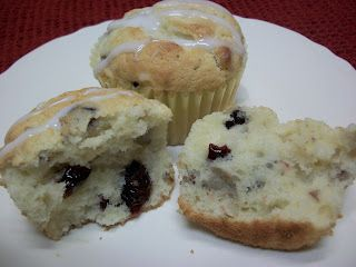 The Big Green Bowl: Cream Cheese Cranberry Muffins