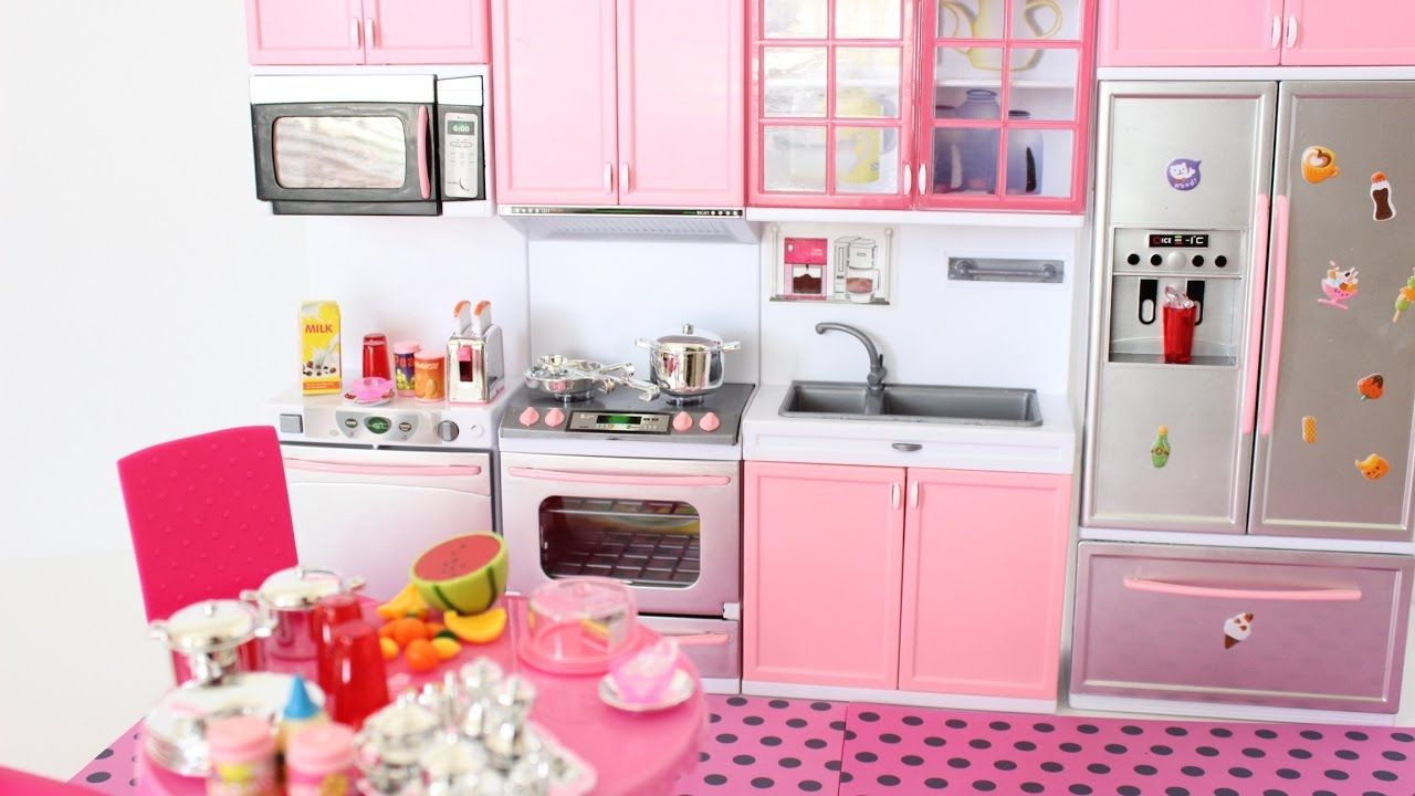 New Barbie Doll Modern Kitchen Unboxing