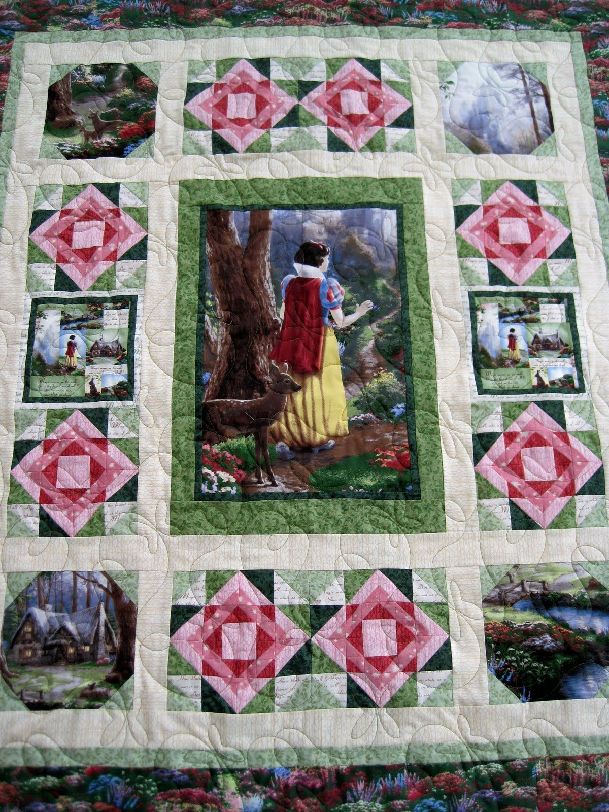 Snow White quilt using Thomas Kinkade fabrics. | Quilts ... : thomas quilt - Adamdwight.com