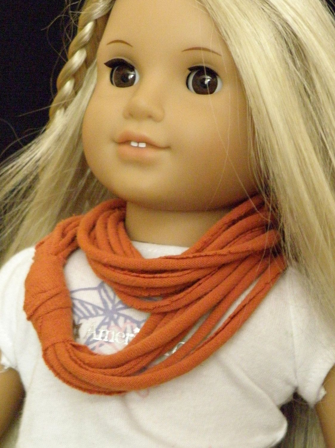 PERIWINKLE Infinity Scarf for Girl or American Girl Dolls