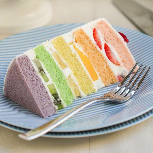 Chinese Bakery Rainbow Cake | Thirsty for Tea