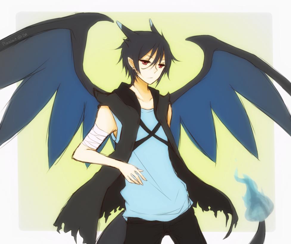 Lucifer X Male Reader: Pokemon Gijinka Charizard Mega - Google 搜尋