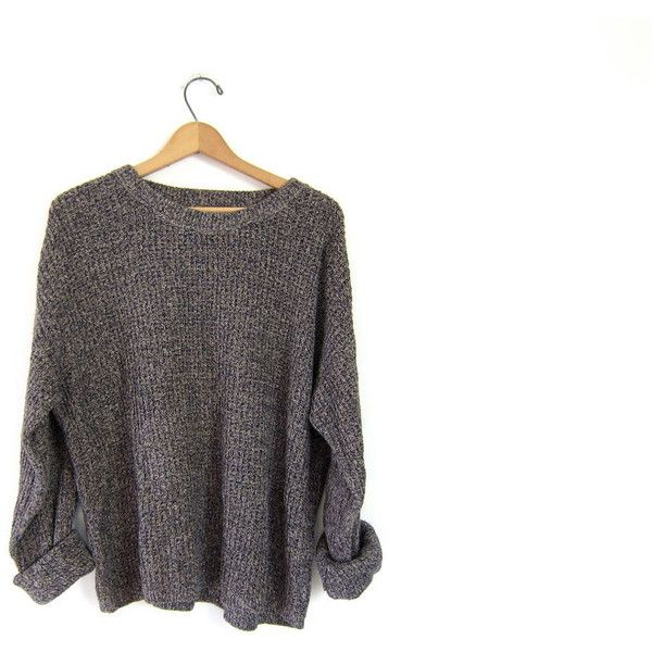 20% Off Sale Vintage 80s loose knit marled sweater. Speckled boyfriend... ($34) via Polyvore featuring mens, men's clothing and men's sweaters