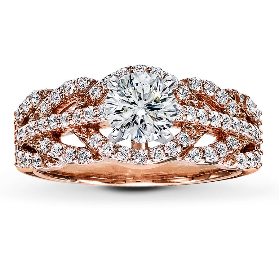 Jared Galleria Rose Gold Engagement Ring Engagement Rings
