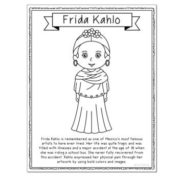 14 Famous Artists Coloring Page Crafts or Posters with