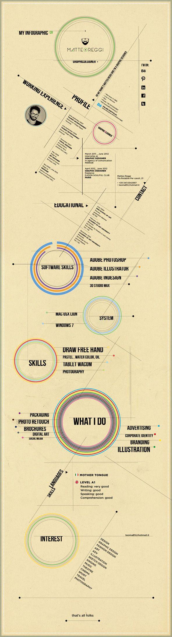 my infografic curriculum vitae