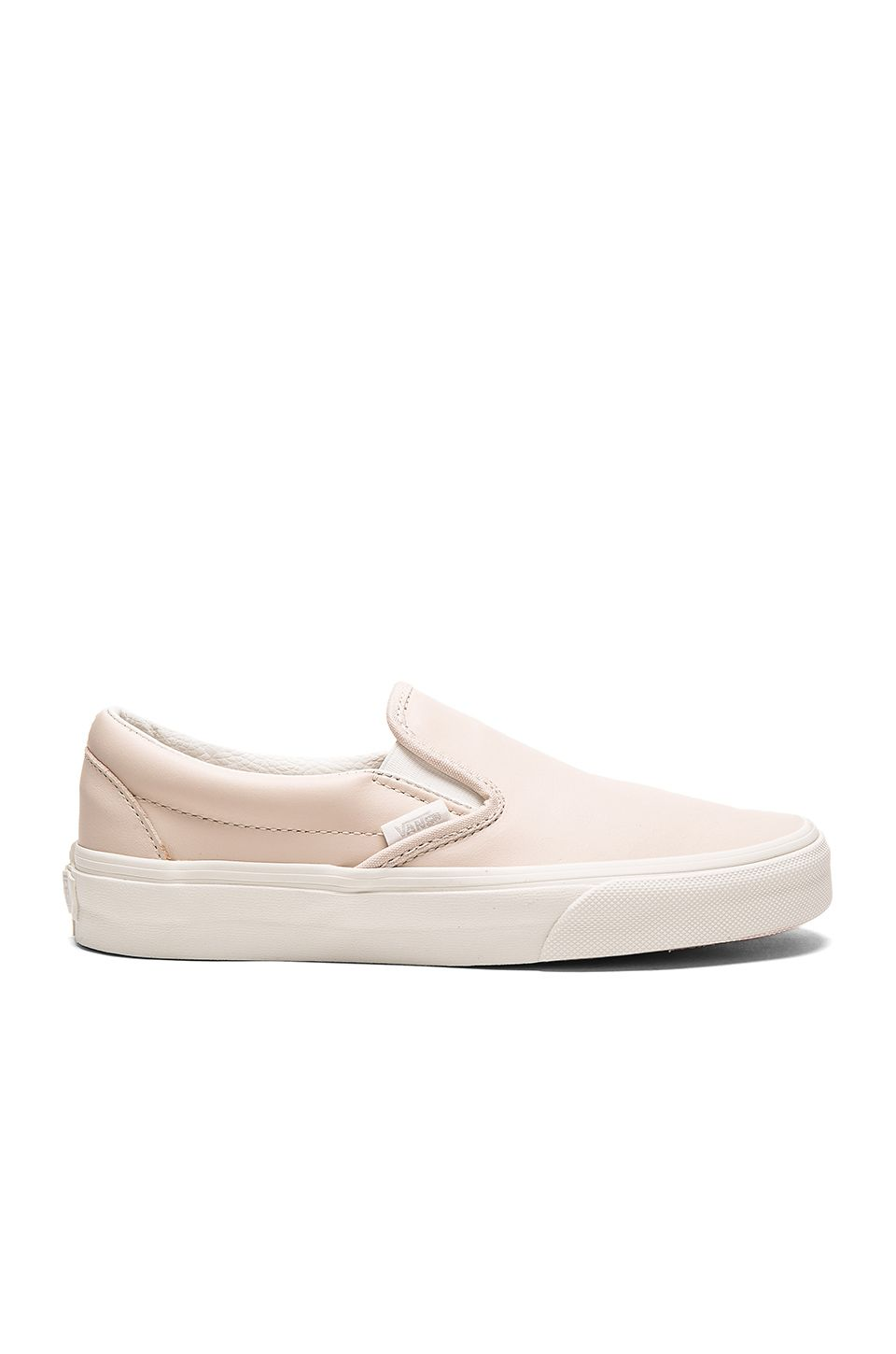 8b3623790e1d Vans Leather Classic Slip-On in Whispering Pink   Blanc de Blanc ...