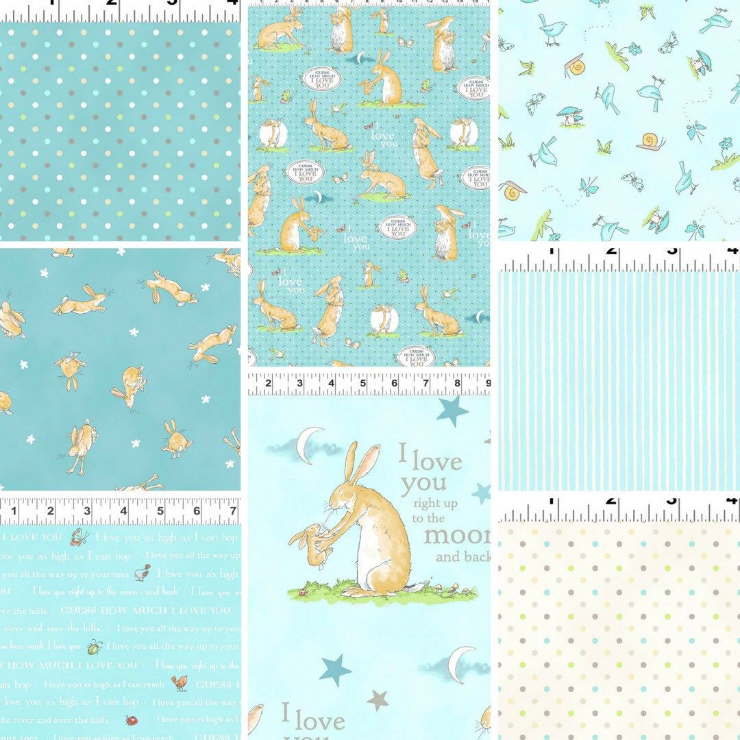 Guess How Much I Love You cotton fabric Bundle of 8 fabulous ...