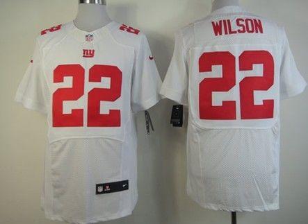 nike new york giants 22 david wilson white elite jersey