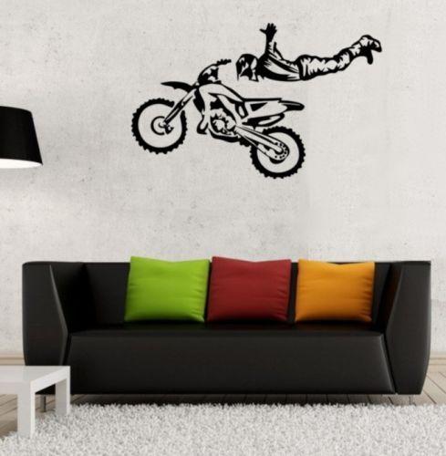 Details zu Wandtattoo Freestyle Motocross Wandbild Wohnzimmer - wandbild für wohnzimmer