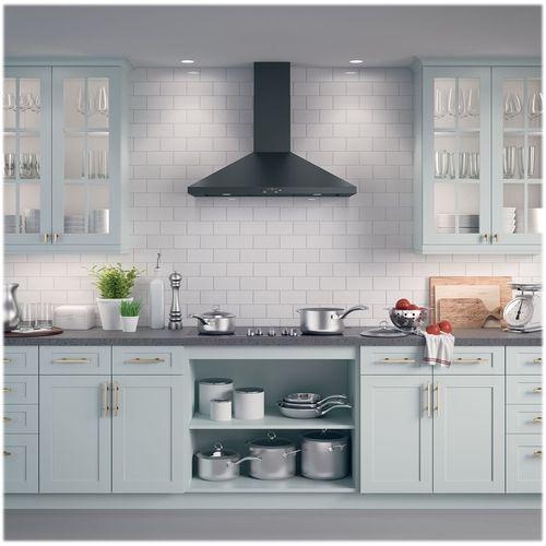 Ge 36 Convertible Range Hood Black Slate Jvw5361fjds Best Buy Kitchen Design Kitchen Remodel Kitchen Chimney