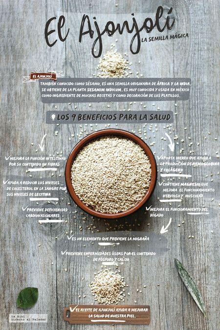 Los Beneficios Del Ajonjolí La Semilla Mágica Infografía Beneficios De Alimentos Alimentos Saludables Ajonjoli Beneficios