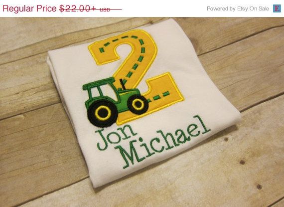 ON SALE Tractor Birthday Two First by TheLittleJoyShop on Etsy, $19.80