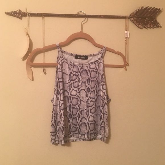 Missguided Tight Crop Top Size 14, worn once! Material is 95% polyester 5% elastane! Missguided Tops Crop Tops