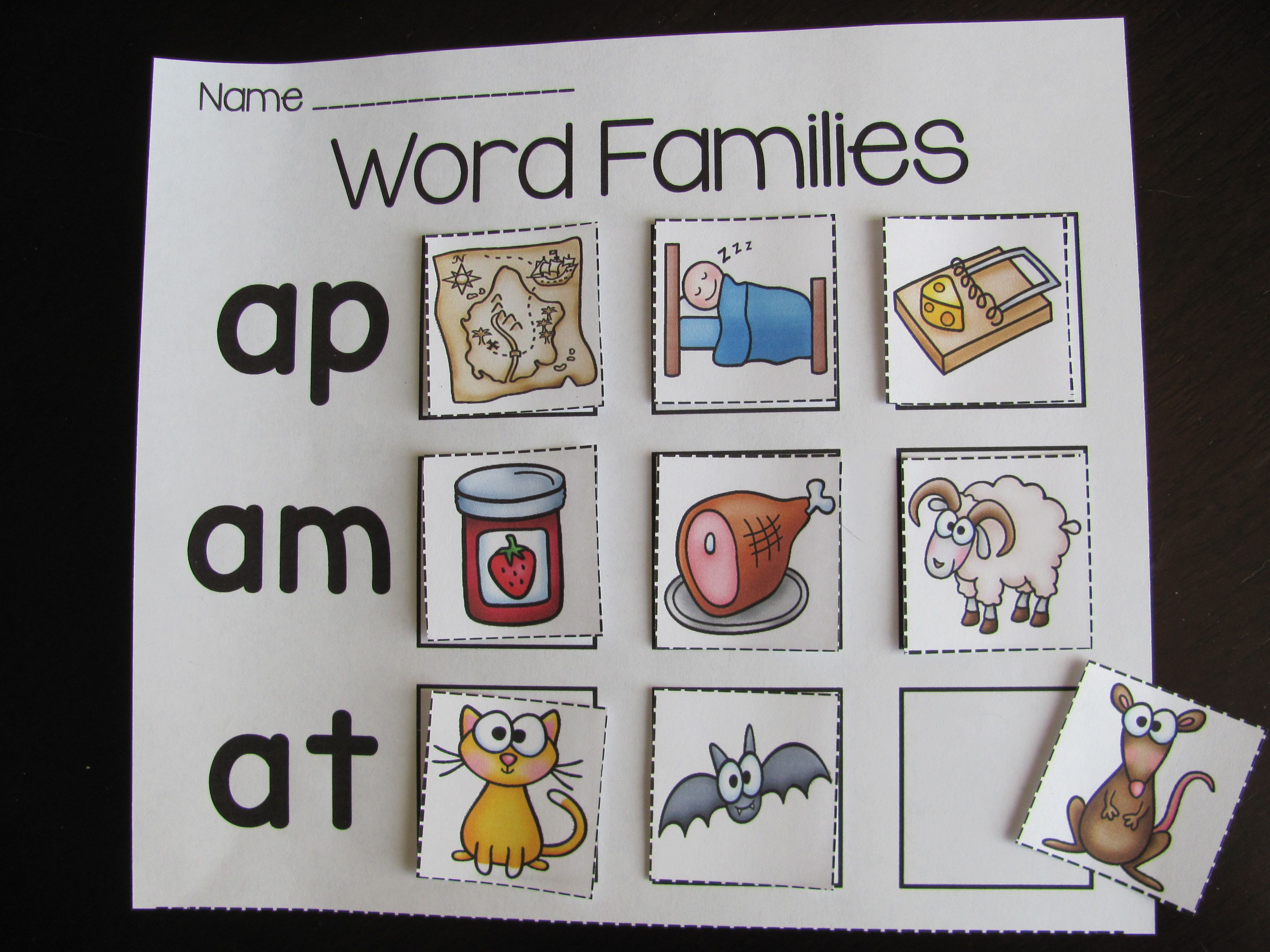 Word Families Worksheets And Puzzles Bundle