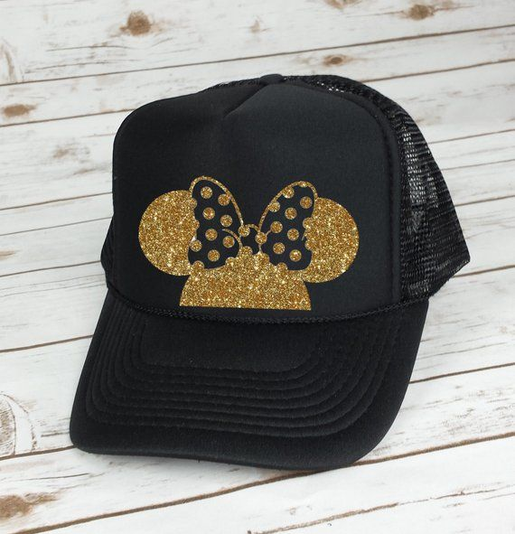 Disney Trucker Hat Minnie Mouse Polka Dot Bow    Cinderella Castle     Princess    Minnie Mouse    Mi c42d414ef61