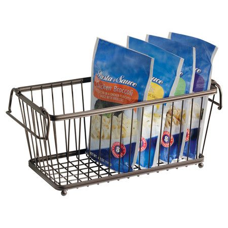 Tuck This Wire Basket Into Your Pantry Shelves To Jars Of Rice And Whole Es