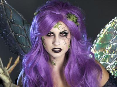 adult halloween makeup tutorial glam dark fairy  dark