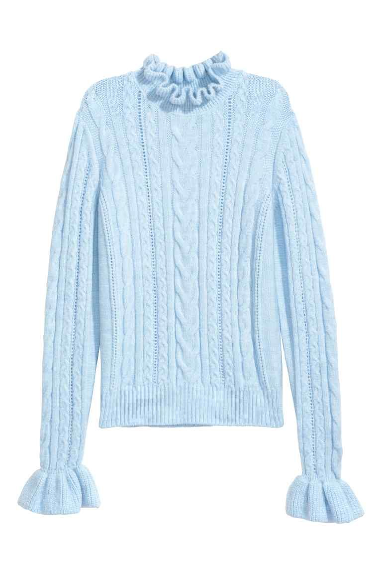 3f84e0513ba Gebreide kabeltrui | Mode | Cable knit jumper, Sweater shop ...