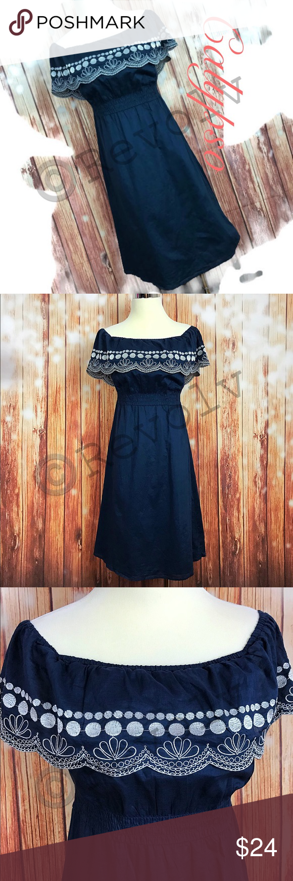 Calypso For Target Off The Shoulder Blue Dress In Great Condition Comes From A Smoke Free Home Gorgeous Blue With With Wh Clothes Design Dresses Blue Dresses [ 1740 x 580 Pixel ]