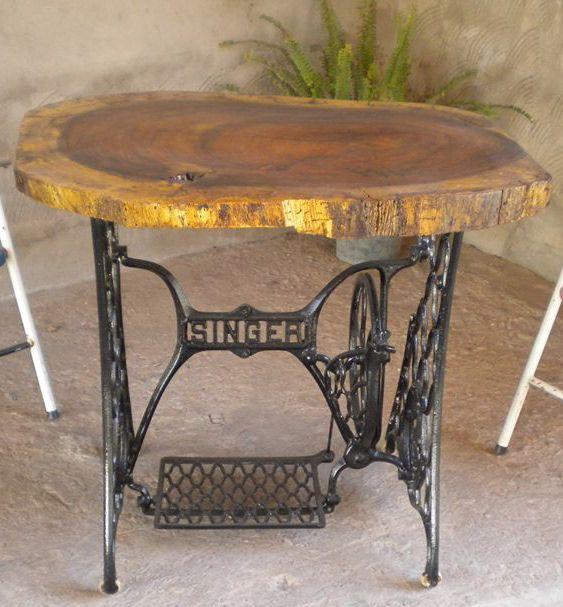 maquina de coser covertida en mesa! | El Atelier del Arte