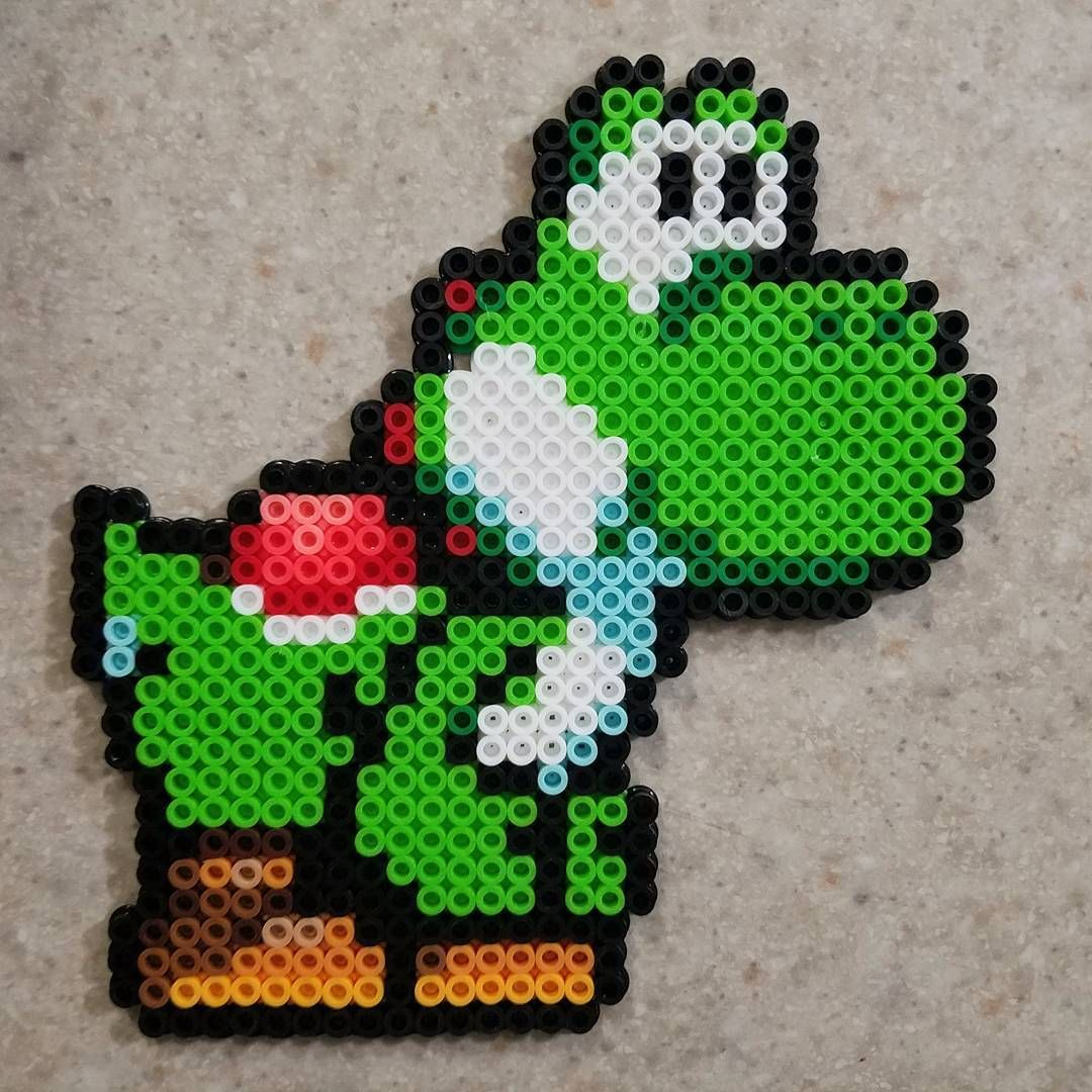 yoshi perler beads by kassandrabrauer nintendo. Black Bedroom Furniture Sets. Home Design Ideas