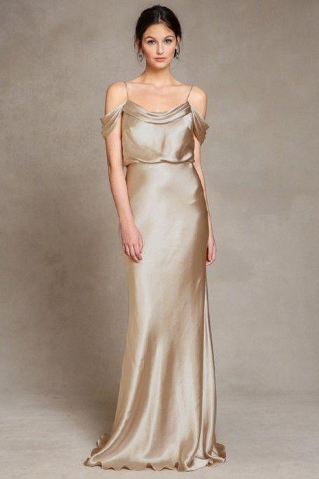 Elegant Bridesmaid Gown Sabine Brushed Gold