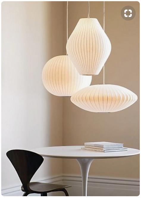 Shape Configuration Of Nelson Bubble Herman Miller Design Within Reach Boligindretning Bordlampe Lamper