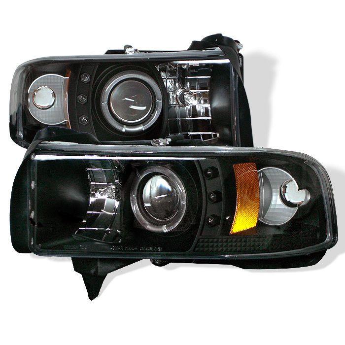 Dodge Ram 1500 94 01 Ram 2500 3500 94 02 1pc Halo Led Projector Headlights New Vehicles Parts Cars Trucks Dodge Ram 1500 Projector Headlights Led Halos