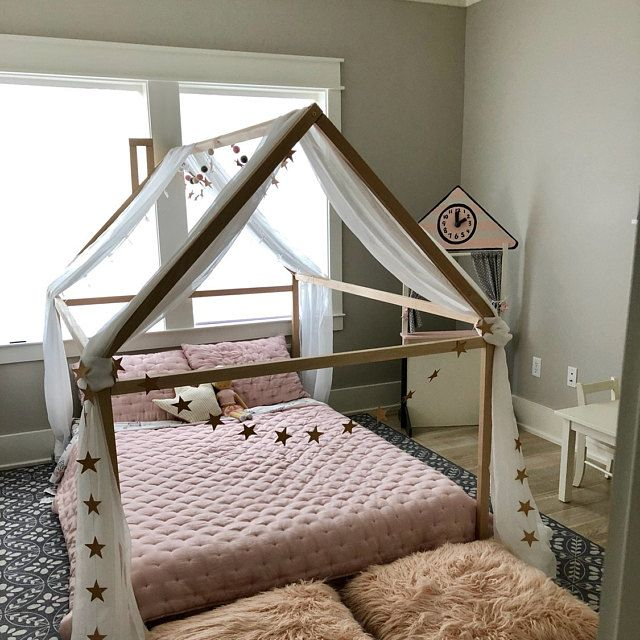 Pin By Nessy Anne Allen On Kids Bedrooms In 2020 House Frame Bed