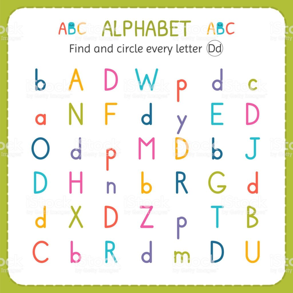 29 Preschool Letter Find Worksheets Coloring Style