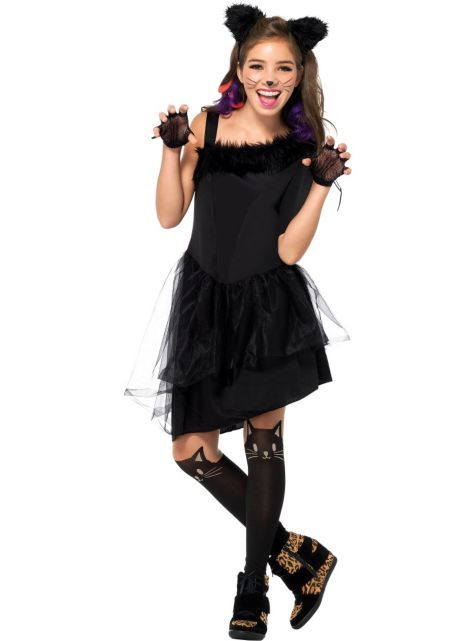 Girls Jinxy Kitty Cat Costume - Party City | Cat halloween ...