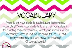 Spark Student Motivation: Finding Vocabulary Words!