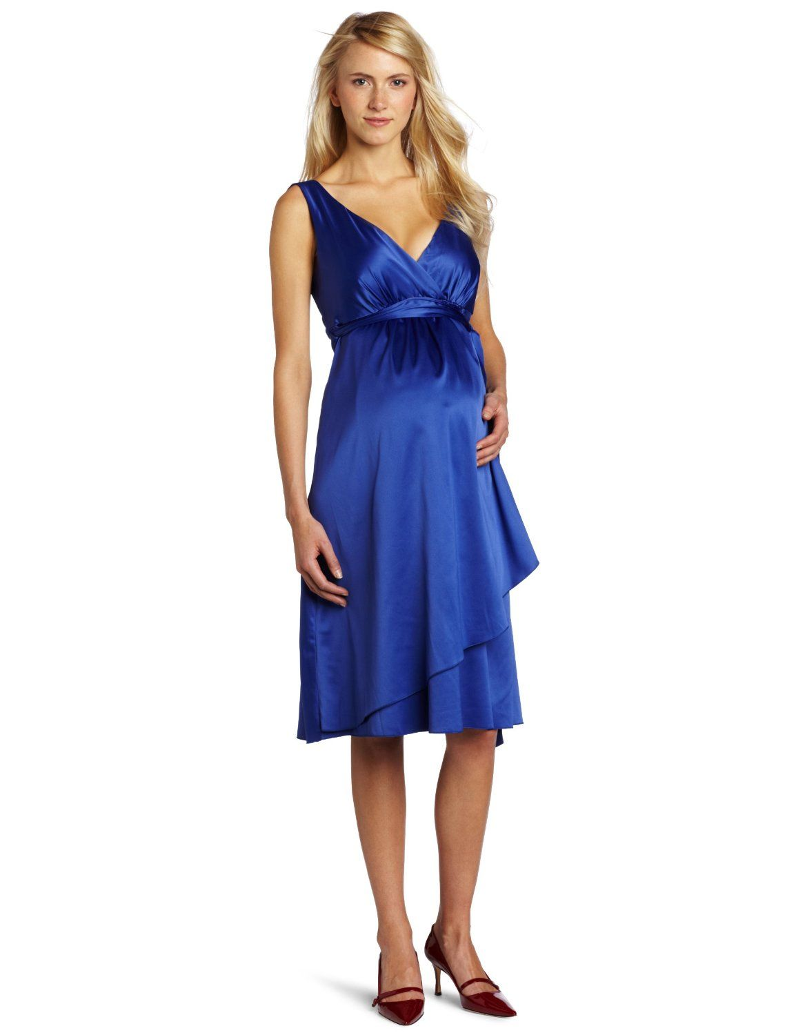Maternity dress for wedding guest  blue maternity dress Ripe Maternity image  Maternity Fashion