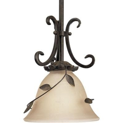 Progress Lighting Eden Collection 1 Light Forged Bronze Mini Pendant P5077 77 At The Home Depot Tablet