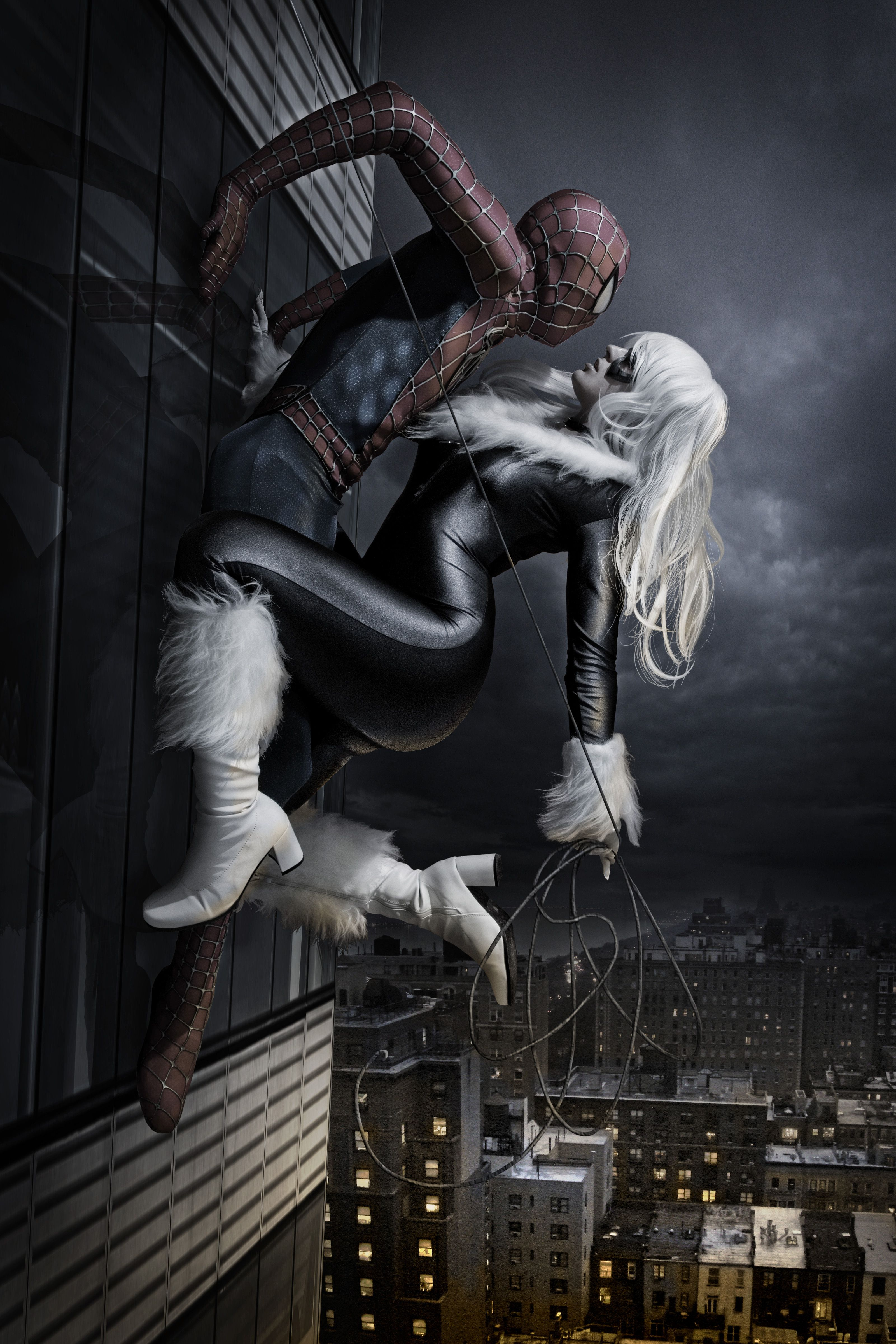 Fancy meeting you here! by AndrewDobell on deviantART | Incredible Spider-Man & Black Cat cosplay.