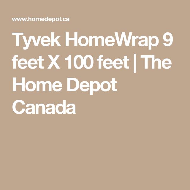 Tyvek HomeWrap 9 feet X 100 feet   The Home Depot Canada