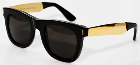 9da92bafcd41 Super Ciccio Francis 195 Sunglasses in 195-3B023100 Black and Gold  #wishlist #super #sunglasses