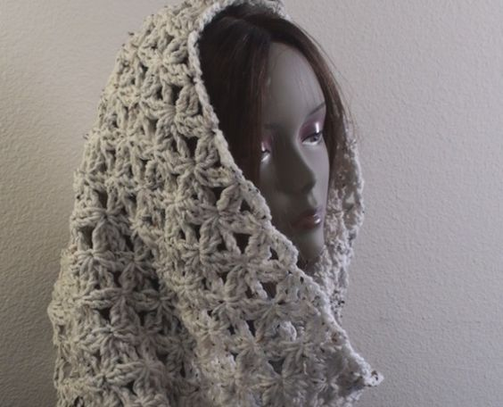 Crochet Infinity Scarf - Aquatic Blossom ~ free pattern ᛡ ...