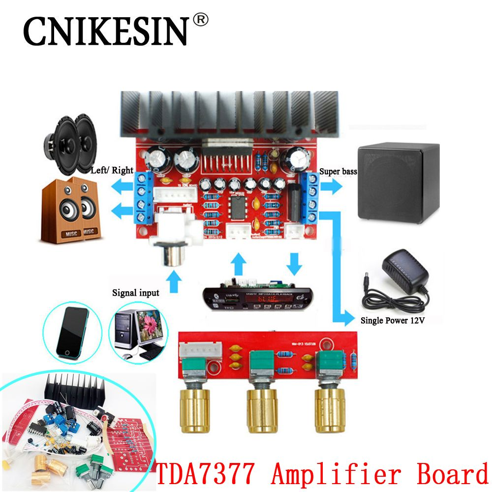 Cnikesin Tda7377 Amplifier Board Diy Single Power Computer Super 2x100w Class D Circuit Hip4081a 200w Bass 3 Channel Sound And 21 Sutie Affiliate