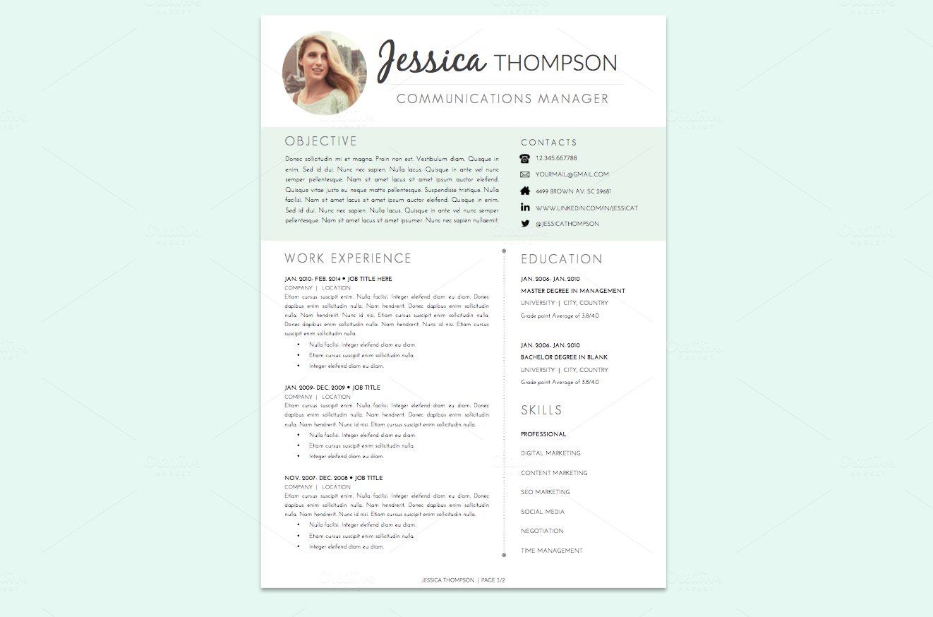 Professional Cook Resume, template, design, tips, examples