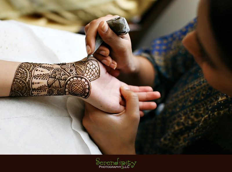 This is called Mehndi for a traditional Indian wedding.