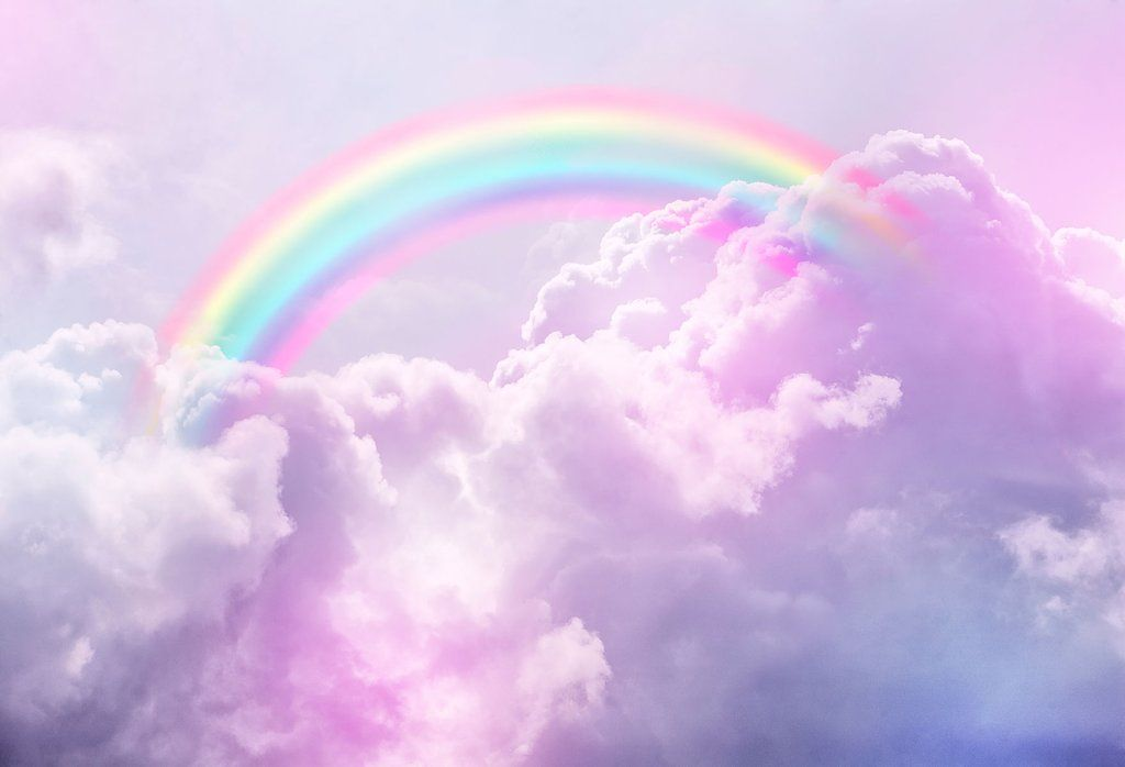 7719469b25a8 Wonderful Pink Clouds with Rainbow Backdrop for Photography UHJ08565 ...