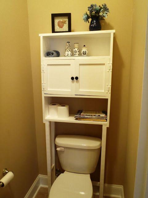 Diy Space Saver For Bathroom Building A Shelving Unit Over Your